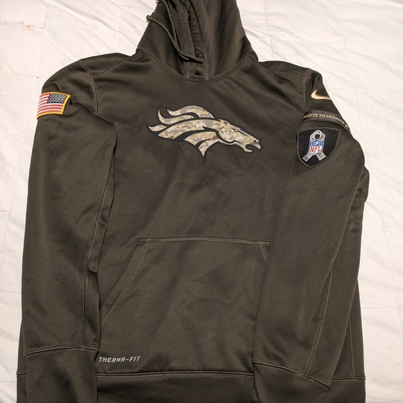super popular b7a91 d1179 Nike Denver Broncos salute to service hoodie